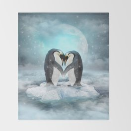 Listen Hard (Penguin Dreams) Throw Blanket