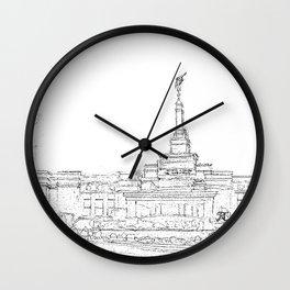 Reno Nevada LDS Temple Sketch Wall Clock