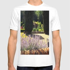 Lavender White Mens Fitted Tee MEDIUM