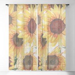 Sunflowers Bloom  Sheer Curtain