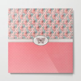 Fancy Pink Butterflies  Metal Print