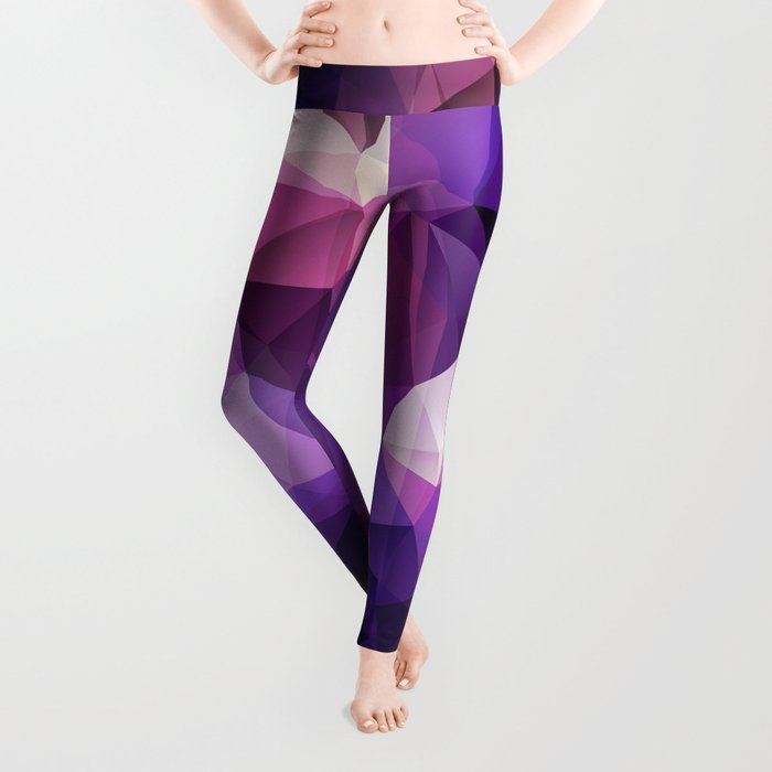Abstract background of triangles polygon design bright colors Leggings