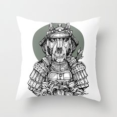 The Samurai Throw Pillow