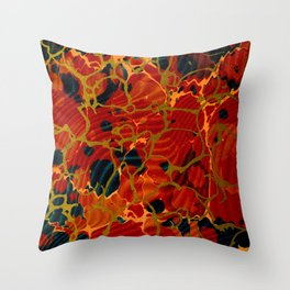 Marbelous Copper and Gold Throw Pillow