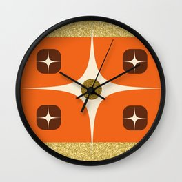 Mid Century Gold Wall Clock