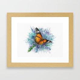 Leopard Lacewing Butterfly In Watercolor Framed Art Print