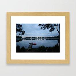 Sunset at Cabin Framed Art Print