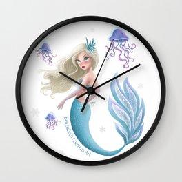 Winter Mermie Wall Clock
