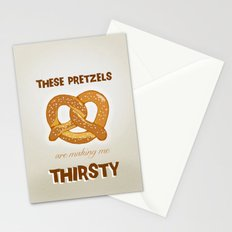 These Pretzels Are Making Me Thirsty! Stationery Cards