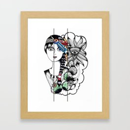 Cactus Eye Pop Style Framed Art Print