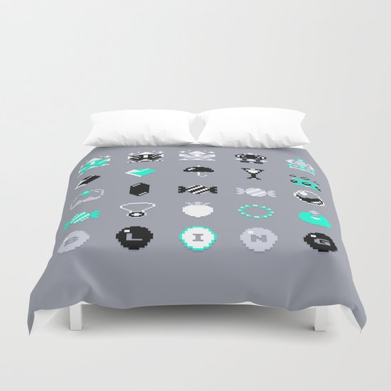 8-Bit Bling Duvet Cover
