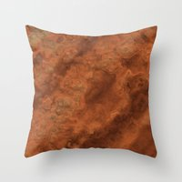 mars Throw Pillows featuring Mars by Lyle Hatch