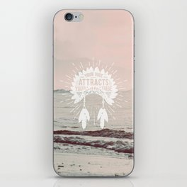 Your Vibe Attracts Your Tribe - Pacific Ocean iPhone Skin