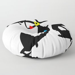 Joan Miro Two Characters Persecuted By A Bird, T Shirt, Art Floor Pillow