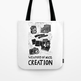 Weapons Of Mass Creation - Photography (blockprint) Tote Bag