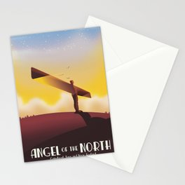 Angel of the North Travel poster. Stationery Cards