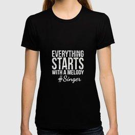 singer singing singing singer band choir T-shirt