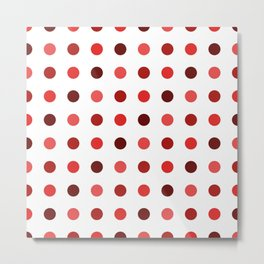 Polka Dots Pattern: Red Metal Print