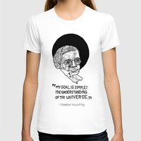 stephen king T-shirts featuring stephen hawking by Aya Rosen