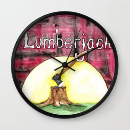 Lumberjack Wall Clock