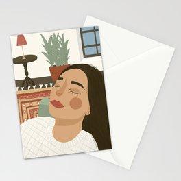 Sunday snooze Stationery Cards