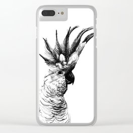 Cocky cockatoo Clear iPhone Case