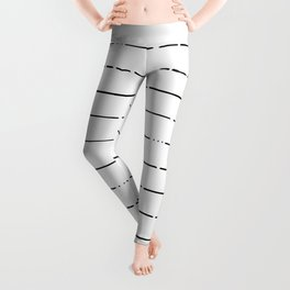 Broken Lines // Black and White Leggings