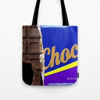 chocolate Tote Bags featuring Chocolate by Nicklas Gustafsson