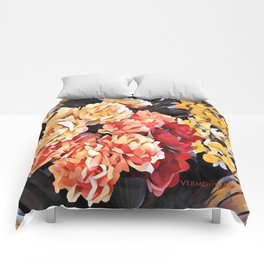 Peaches and Cream Floral Bouquet Comforters
