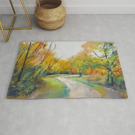 Autumn Woodland Path Rug