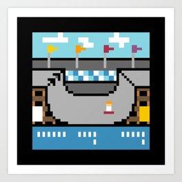 Minimal NES: Skate or Die Art Print