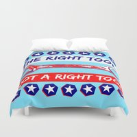 politics Duvet Covers featuring Election by pollylitical