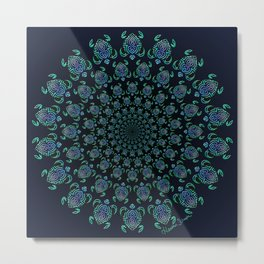 Tribal Turtle Tunnel Metal Print