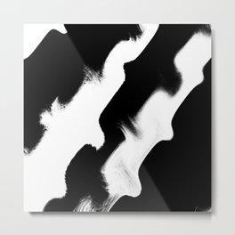 Mono_Wave Metal Print