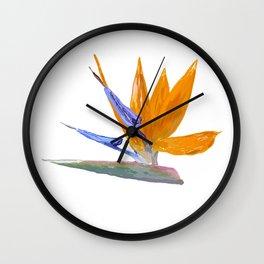 strelitzia Wall Clock