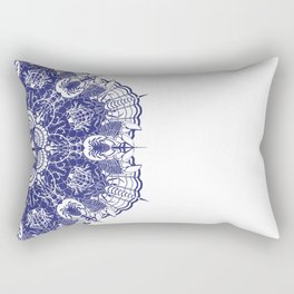 Crab Karma Mandala Blue Rectangular Pillow