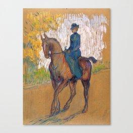 """Henri de Toulouse-Lautrec """"Side-saddle"""" Canvas Print"""