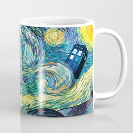 Tardis Art Starry Painting Night Coffee Mug