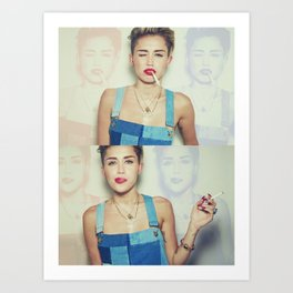 Miley Cyrus x Cigarette  Art Print