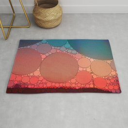 Red Modern Minimal Abstract Rug