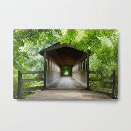 Meet Me At the Bridge Metal Print