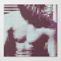 smiths Canvas Prints featuring The Smiths - The Smiths - Pantone Pop by Stuff.