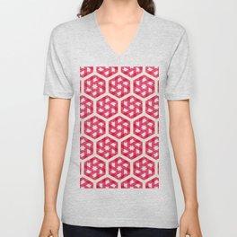 Pink Star Pattern Unisex V-Neck