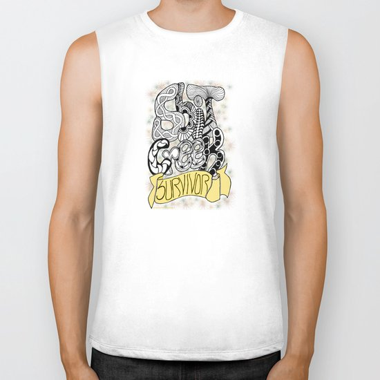 Zentangle Shit Creek Survivor Biker Tank