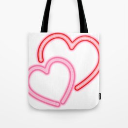 Neon Hearts Tote Bag