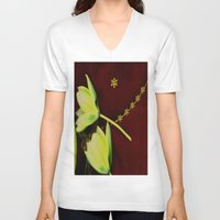 milky way V-neck T-shirts featuring The Milky Way Pattern by Pepita Selles