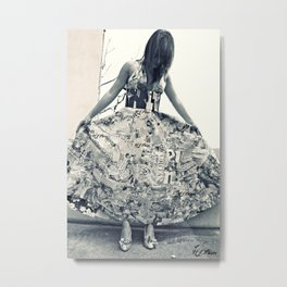 Black and White Thoughts  Metal Print