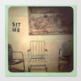 Sit Beside Me Canvas Print