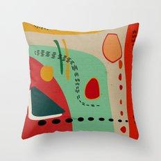 cores Throw Pillow