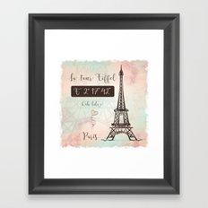 Coordinates Paris Framed Art Print
